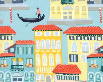 Colorful Venice City Fabric - Grand Canal from Kate Spain by Moda 1 Yard
