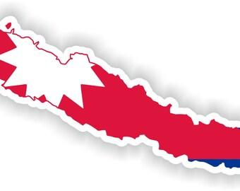 Nepal Map Flag Silhouette Sticker for Laptop Book Fridge Guitar Motorcycle Helmet ToolBox Door PC Boat