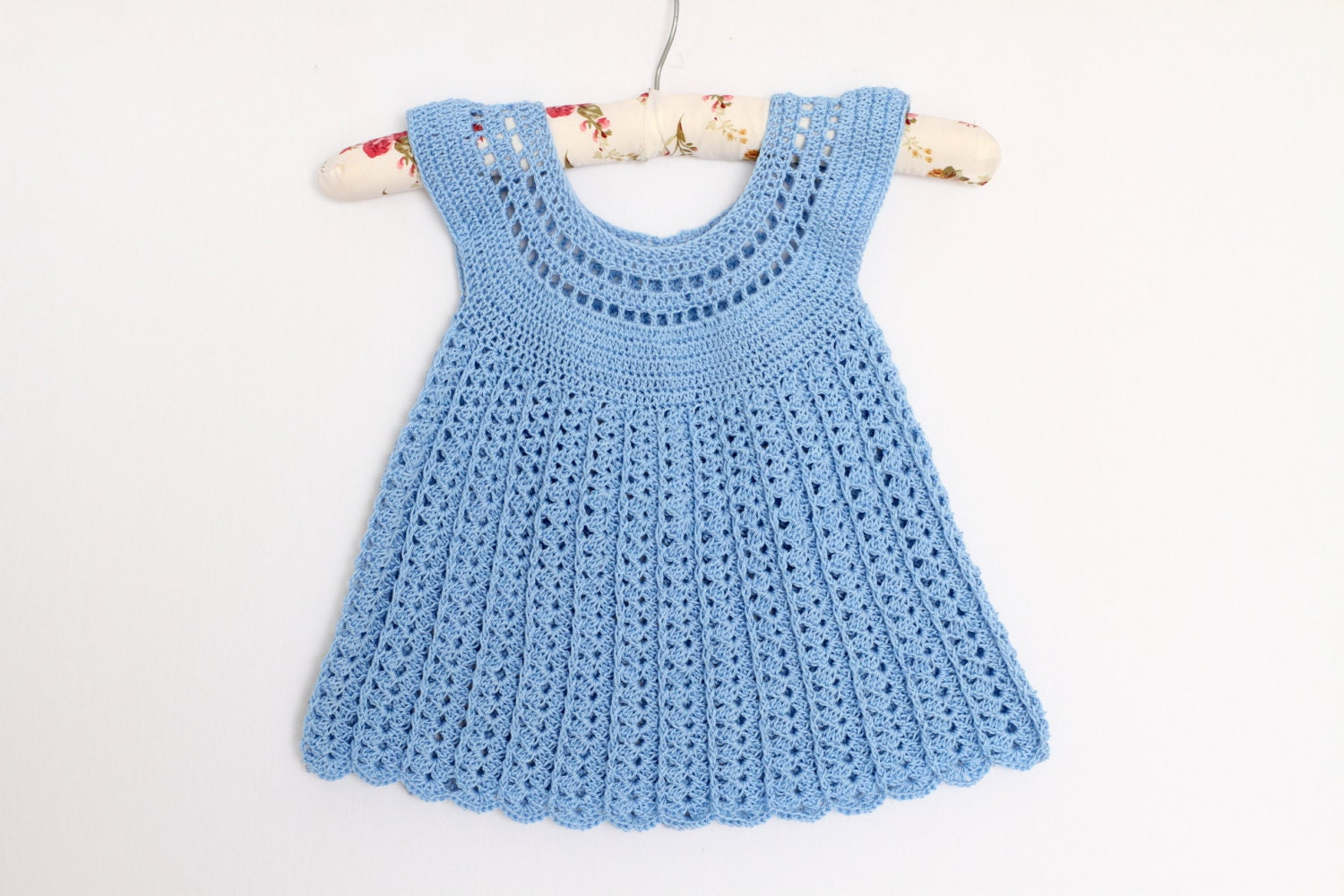 Knitted Dress Pattern For 2 Year Old : Crochet dress pattern Girls Crochet dress for 2-3 years-old