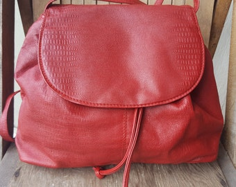 HEART   ///   Leather Drawstring Bag