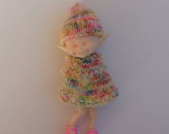 Knitted Dress and Elf Hat for Fairyland Realpuki