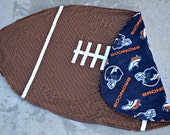Custom Toddler/Baby Football Blanket with your choice of NFL team fleece backing