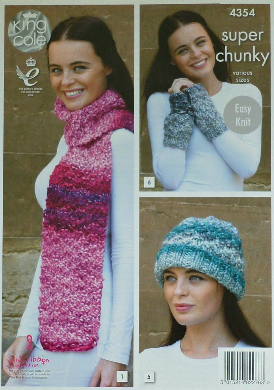 Womens knitting pattern k4354 ladies easy knit scarf wrist sold by knittingpatterns4u bankloansurffo Image collections