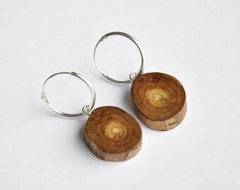 Native New Zealand natural wood earrings~ reclaimed wood