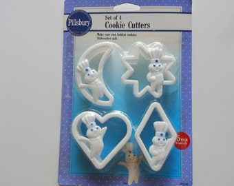 Vintage Pillsbury Dough Boy Cookie Cutters 1992