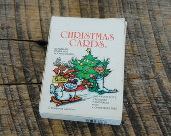 Vintage Christmas Standard Playing Card Deck 1986