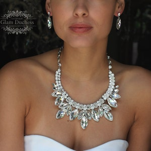 etsy wedding necklace earring sale