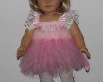 Pink Ballerina Tutu Outfit - fits American Girl Dolls and other 18 inch dolls