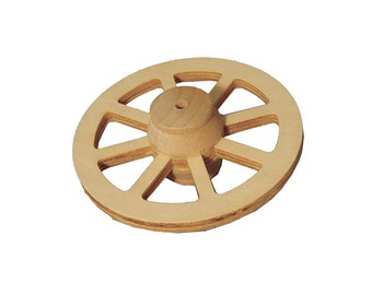 Dolls House Miniature 77MM Wooden Wagon Wheel