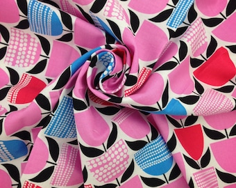 FABRIC SALE! Moxie Buttercup Bubblegum, Fabric By The Yard, Erin McMorris, Quilting Fabric, Cotton Fabric, Sale Fabric