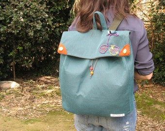The Bicycle Backpack / Green oversize Bicycle Backpack
