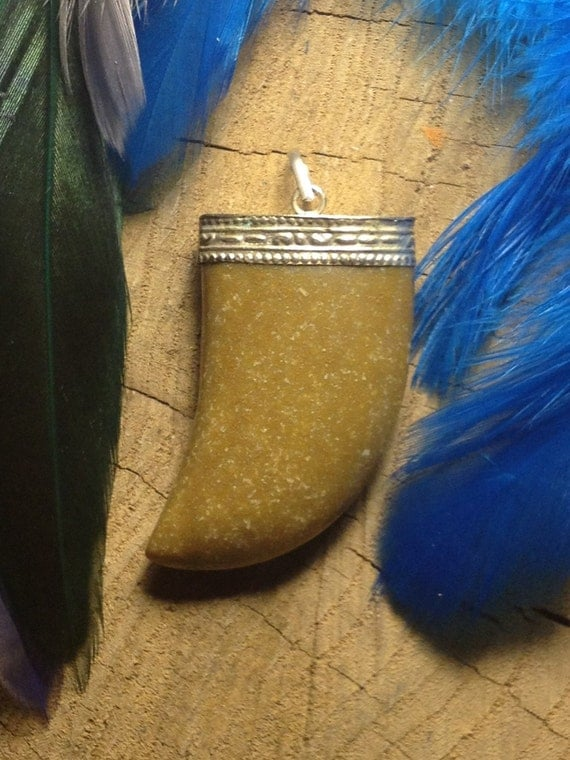 Jasper Claw Pendant, claw pendant, jasper pendant, jasper claw, FREE SHIPPING!