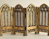 Folding Screen 1:12 scale (ready-assembled and gilded)