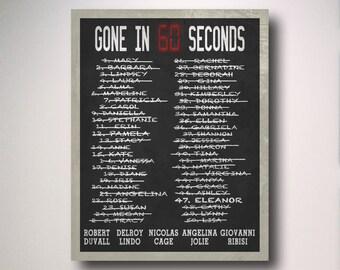 Gone in 60 Seconds Minimalist Movie Poster