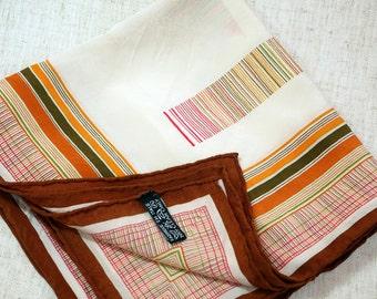 Silk Scarf Italian Silk Scarf Vintage Scarf Neck Scarf Jacket Scarf