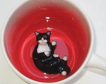 Black Cat, paw printed (In Stock)