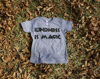 Kindness is Magic kids tri-blend t-shirt grey American Apparel MADE IN USA