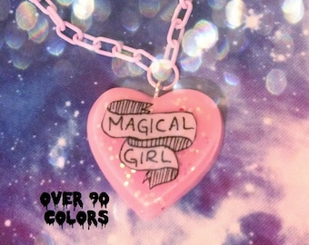 Magical Girl Resin Necklace Fairy Kei Pastel Goth