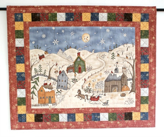 Christmas Wall Hanging Quilted Snowman Wall Hanging Winter