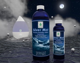 Silver Botanicals' Silver Mist Humidifier Additive, All-Natural, Colloidal Silver & Essential Oil Formula