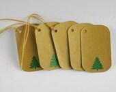 5 - Holiday / Christmas Tags - Rounded Christmas Tree Tag
