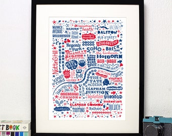 I Love You London - Art Print