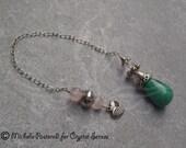 Love Malachite Gemstone Dowsing Pendulum (DP0135)