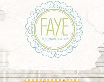 Whimsical frame logo design -  boutique logo and watermark - business branding - pre designed photographer logo