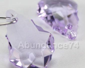 2 pcs Swarovski Crystal 6090 Baroque Pendant 22mm Crystal VIOLET ( Clearance )