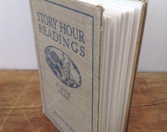 Journal, Story Hour Readings vintage repurposed Journal