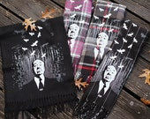 Alfred Hitchcock Scarf - Hand Printed Cashmere Feel