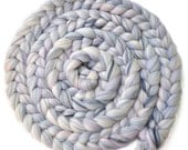 Newborn Photo Prop - Blended Dyed Merino wool roving braid - Hushed Tones - 8 ounces