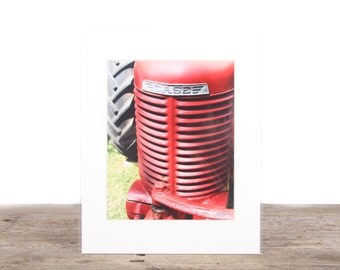Original Fine Art Photography / Unique Photography / Red Tractor Photography / Rustic Farm Decor / Tractor Picture Photography Prints