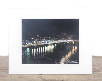 Original Fine Art Photography / Night Street Photography / Bridge Art / Modern Architecture / Unique Photography / Signed Photography Prints