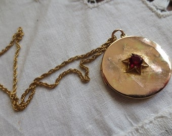 Rare 18K ROSE GOLD LOCKET Pre-1860