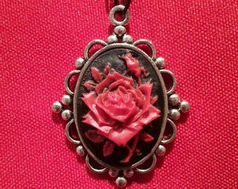 Rose Cameo Necklace