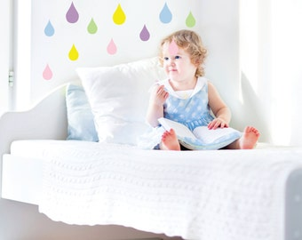 Raindrop Wall Decals - Girls bedroom Decor- nursery wall decals