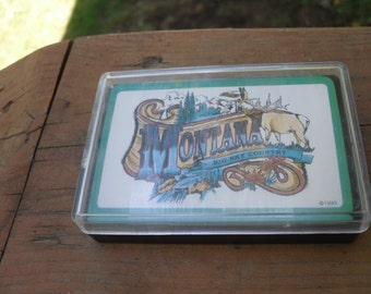 sealed new vintage Montana big sky country souvenir playing cards