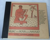 Vintage Record Set 78 Speed Music Of The Sioux And The Navajo 1949 Collectible Native American Folkways Records P 401 DanPickedMinerals