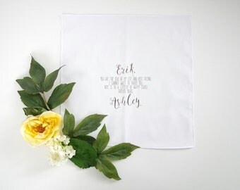 GROOM printed handkerchief with your choice of graphic straight edge handkerchief from Bride to Groom