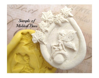 fairy mold, flexible Silicone mold, push mold, food supplies mold, clay supplies molds, # 59s