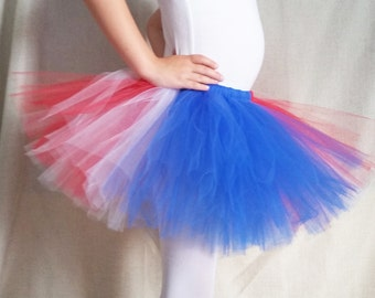USA Tutu, 4th of July Tutu, Red White Blue Tutu, American Tutu, Independence Day, Memorial Day, Labor Day, Girls sizes 6-14