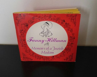 Vintage Humor Book - Fanny Hillman Memoirs of a Jewish Madam - 1965