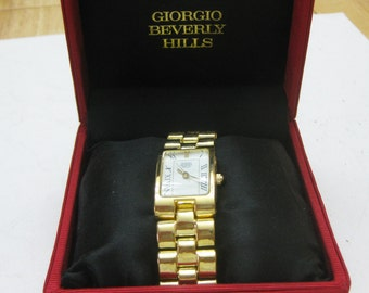 Giorgio Beverly Hills Gold Tone Watch