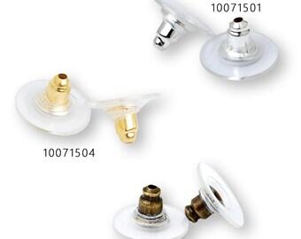 100 Clear Plastic 11x6mm Earnuts-Large Earring Backs Loose Clear Earring Backs-Plastic Earring Backs 100715
