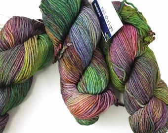Malabrigo Rios yarn, color Arco Iris, rainbow shades, #866, superwash knitting yarn