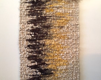 Vintage Wool Woven Textile Wall Hanging Art