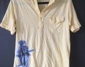 Soldier Boy Collared Henley Shirt (men's small)