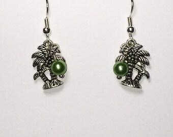 Palm Tree Earrings Women's Gift For Her Beach Jewelry Beach Earrings Mom Girlfriend Sister