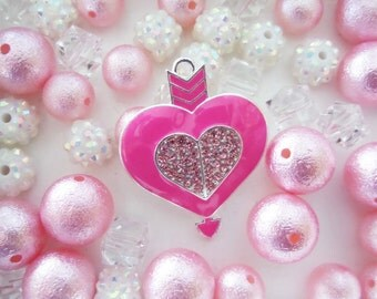 Heart and Arrow, Valentine Inspired Collection, 10mm beads and larger, K27
